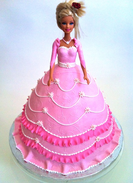 Birthday Cake Of Barbie With Name
